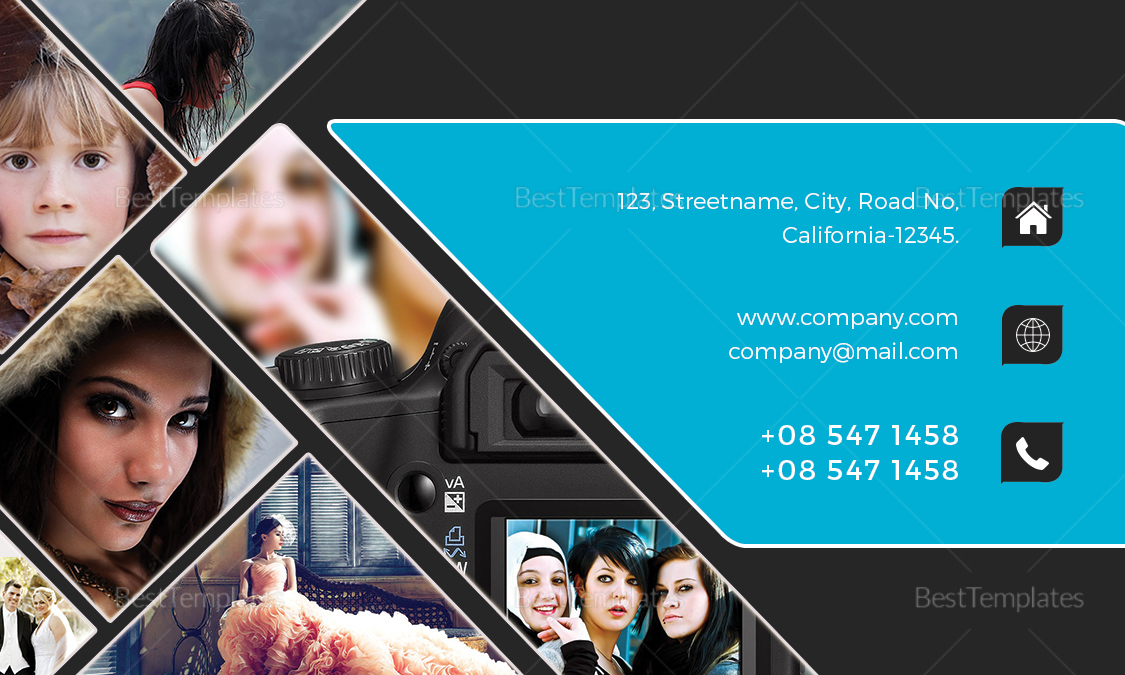 Modern Photography Business Card Design Template