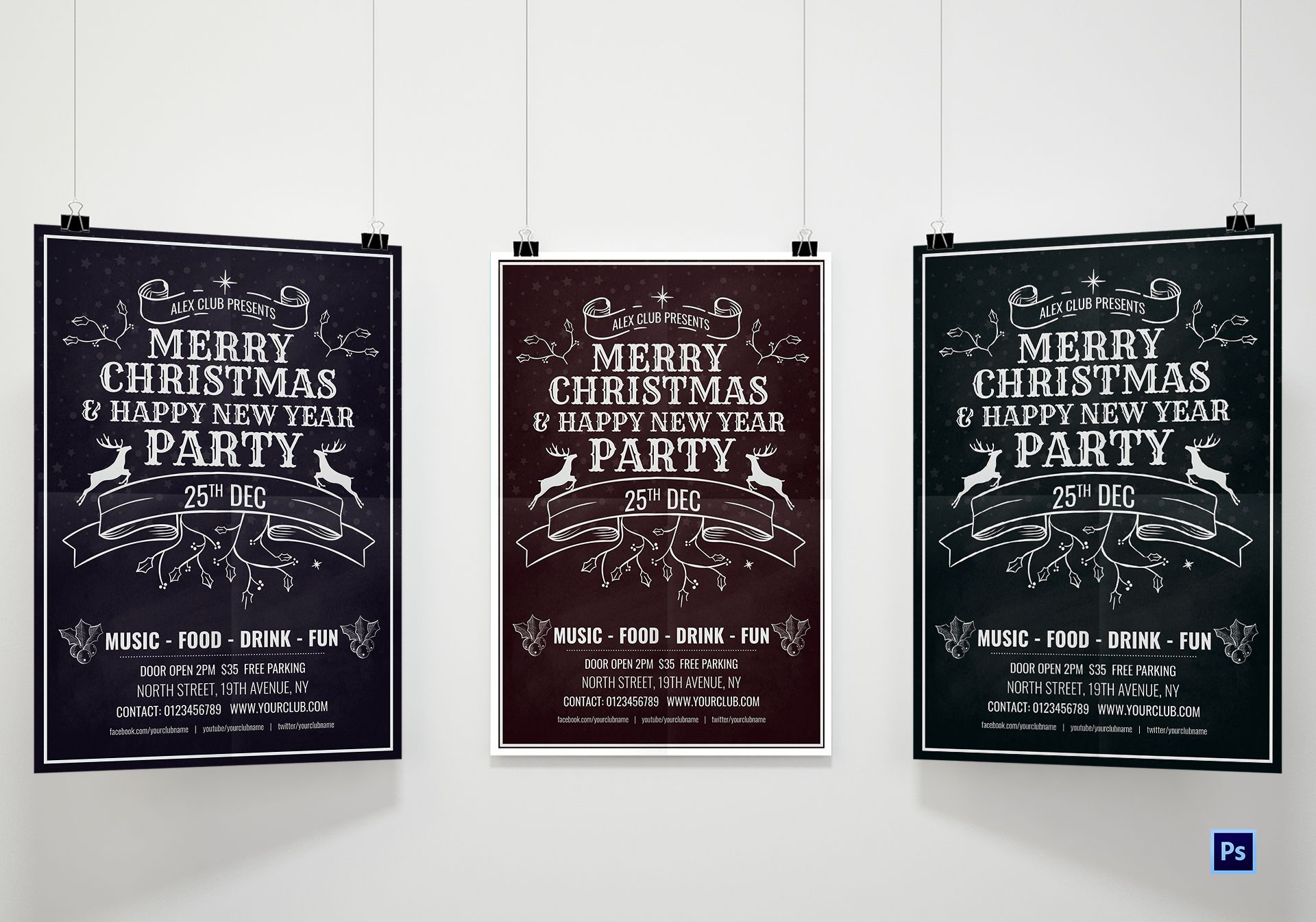 Happy Holiday's Poster Template
