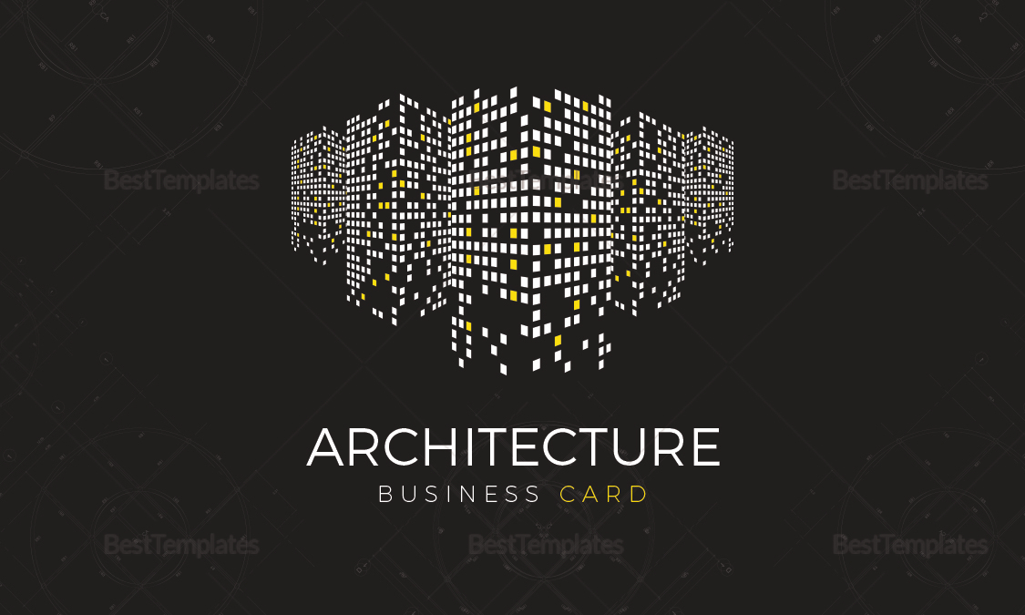 architect business card architect business card template - Architect Business Card