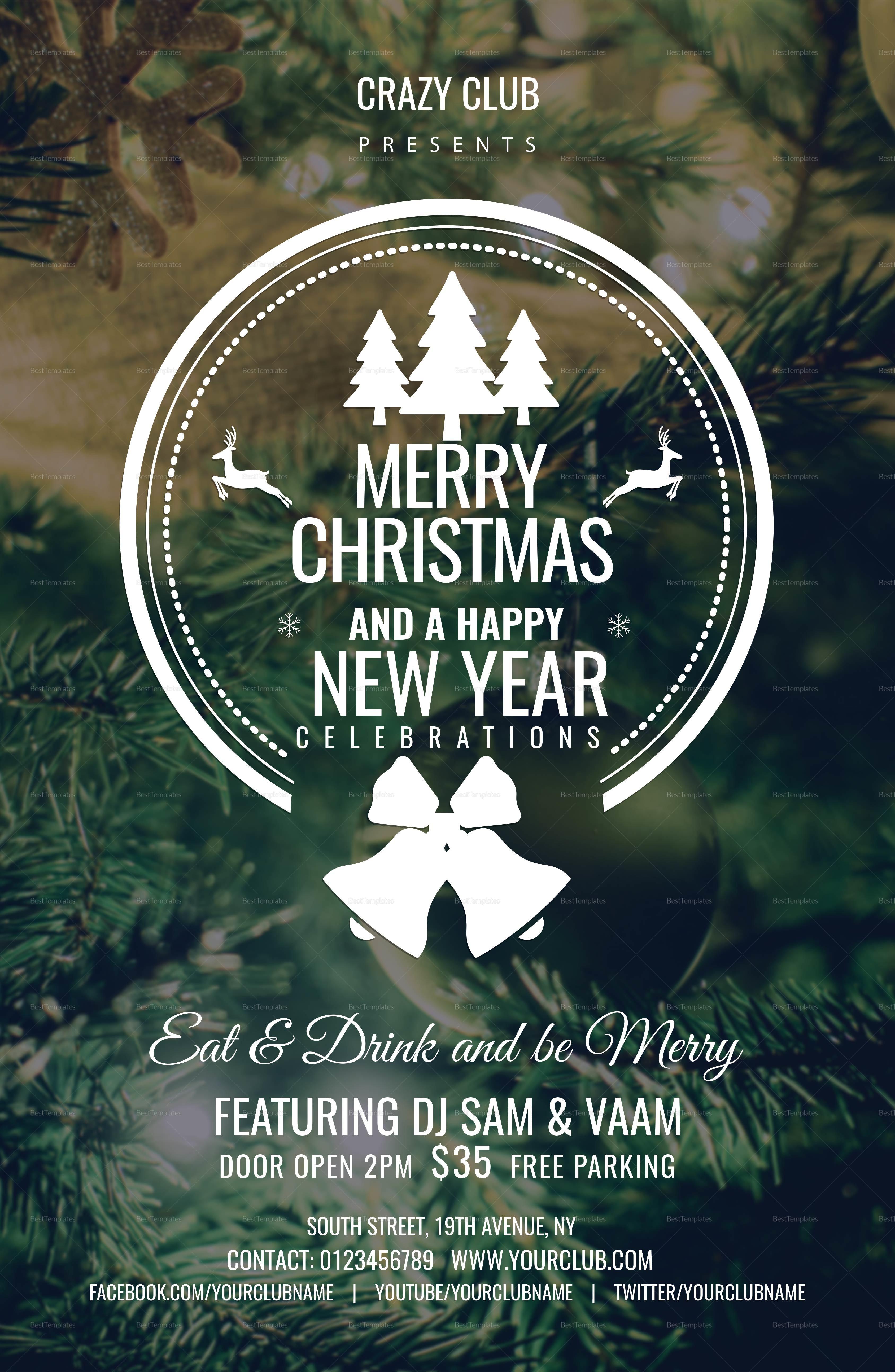 Editable Christmas Poster