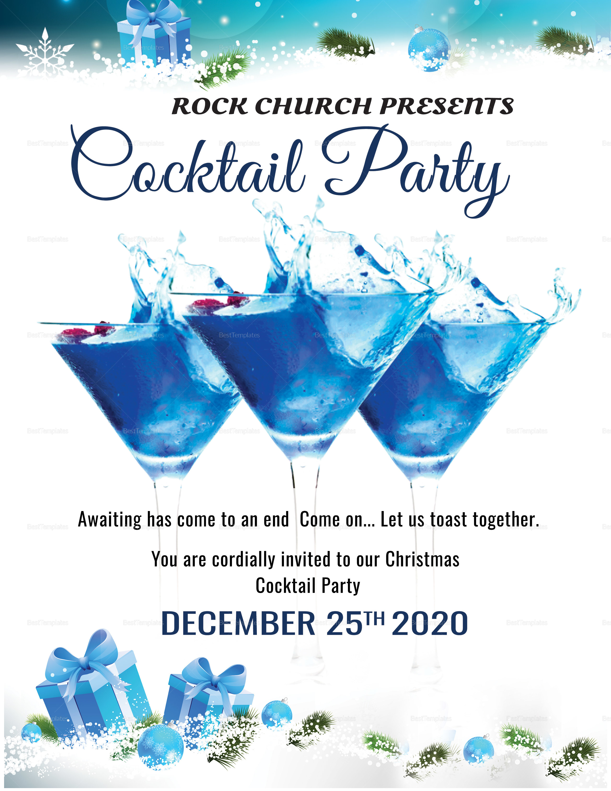 Christmas Cocktail Party Flyer