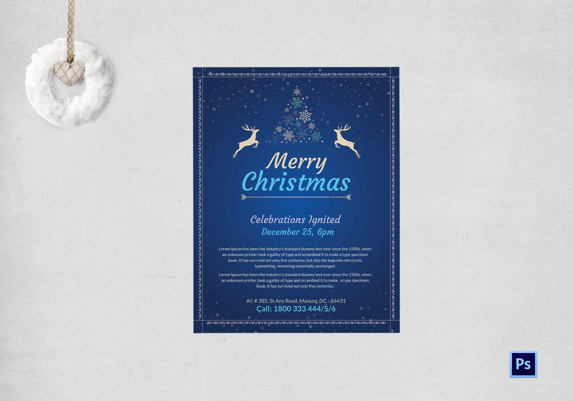 Joyful Christmas Flyer Template