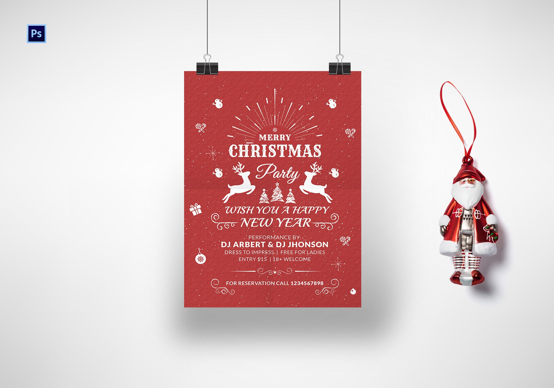 Printable Christmas Poster Template