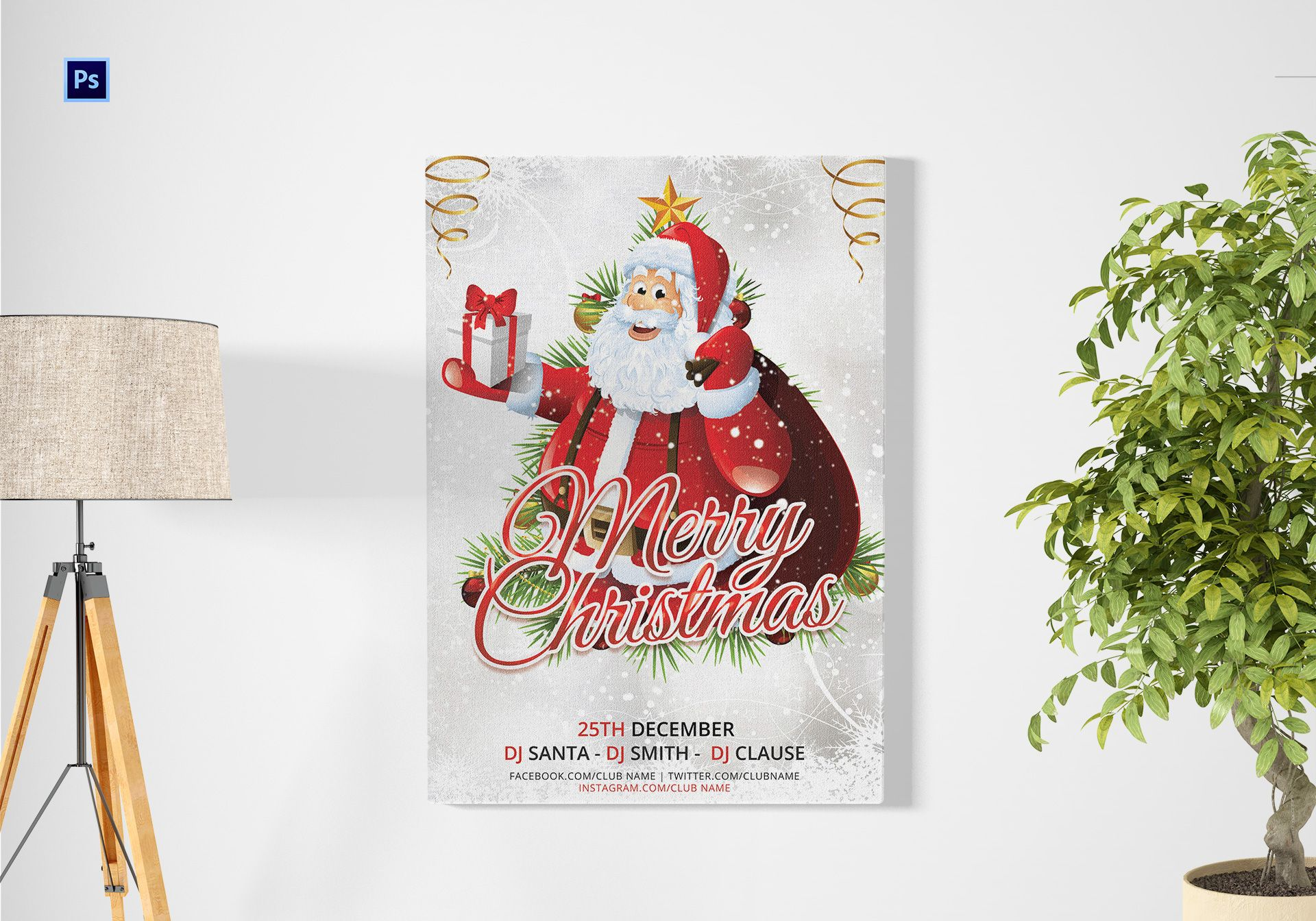 Christmas Gift Poster Template