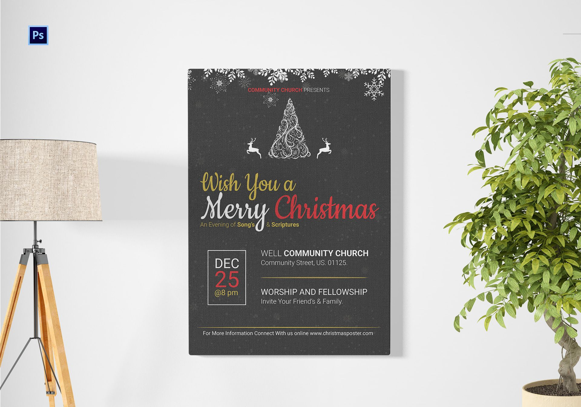 Editable Christmas Poster Template