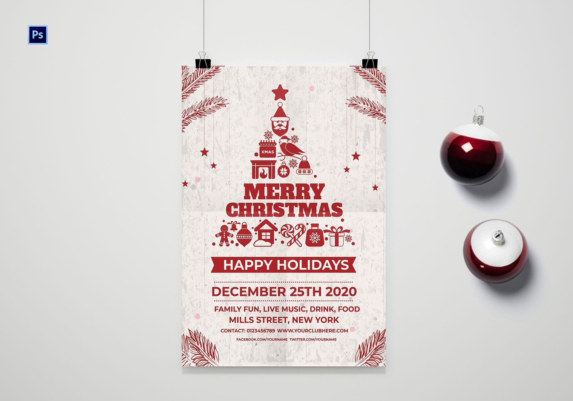 Christmas Holiday Poster Template