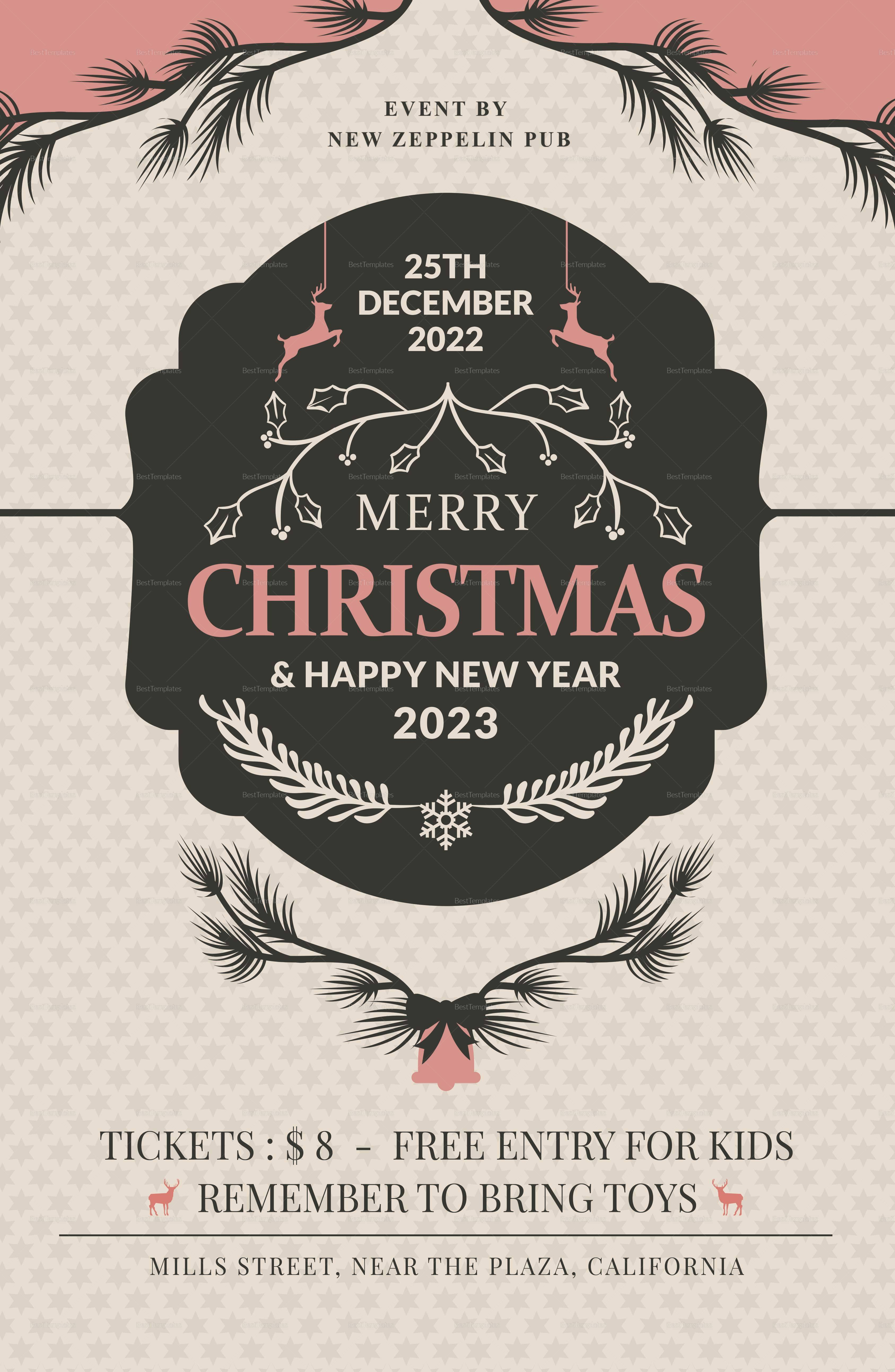 Christmas Party Invitation Poster