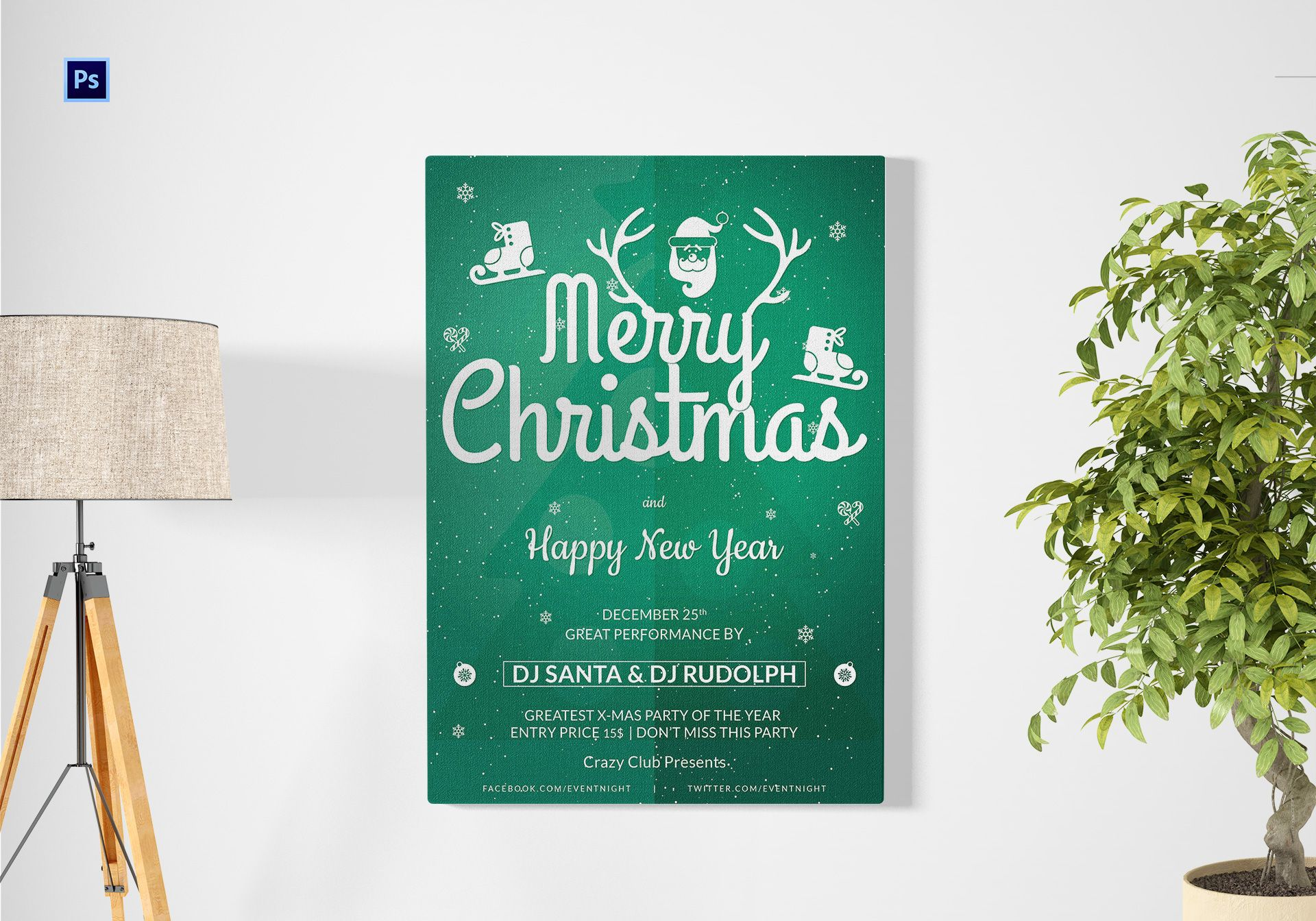 Christmas Club Poster Template