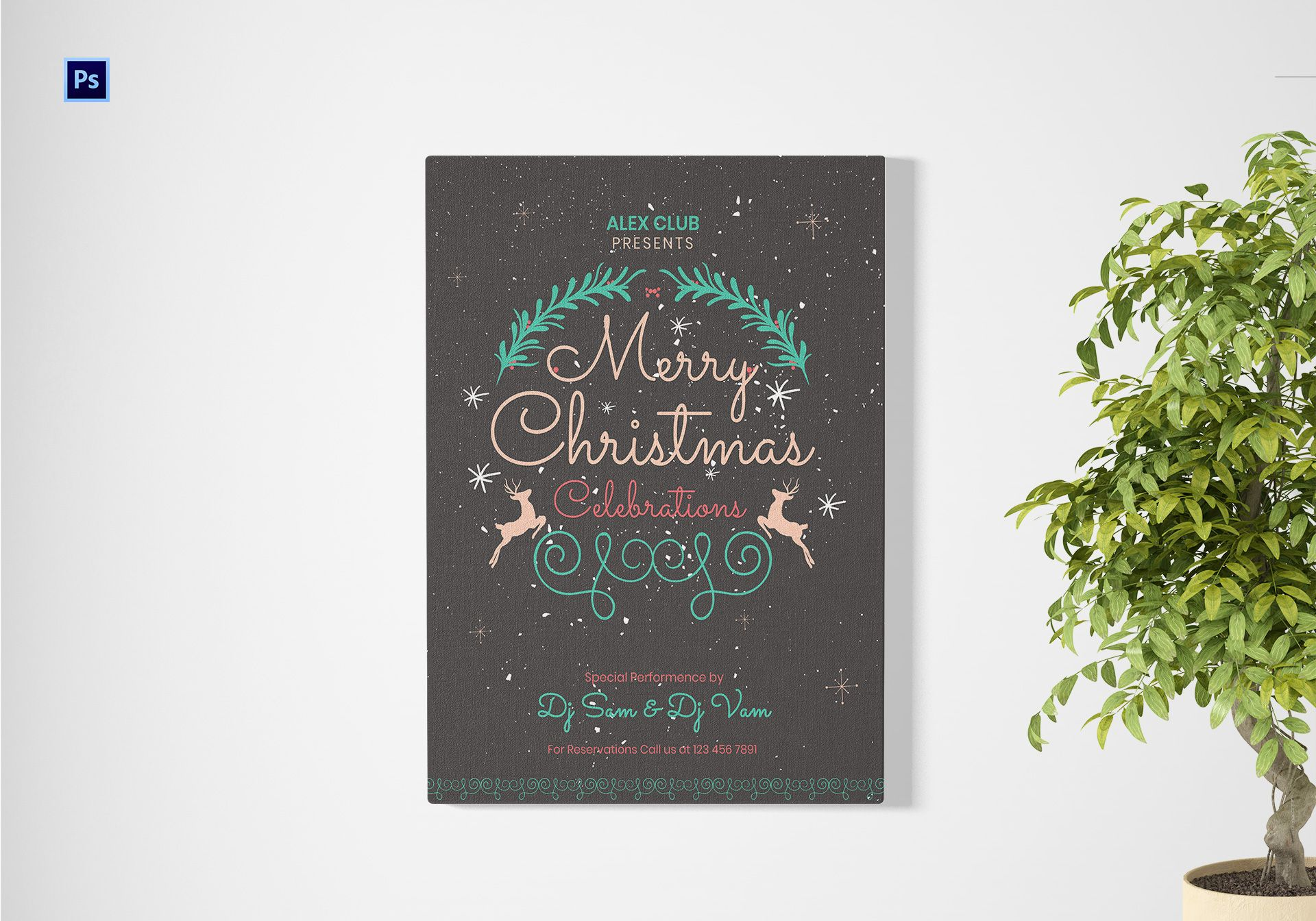 Christmas Celebration Poster Template