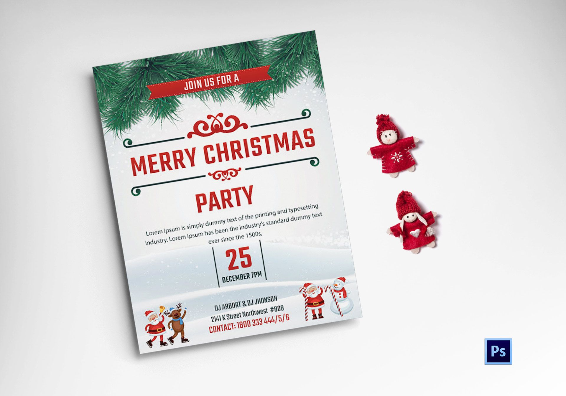 Christmas Winter Party Flyer Template