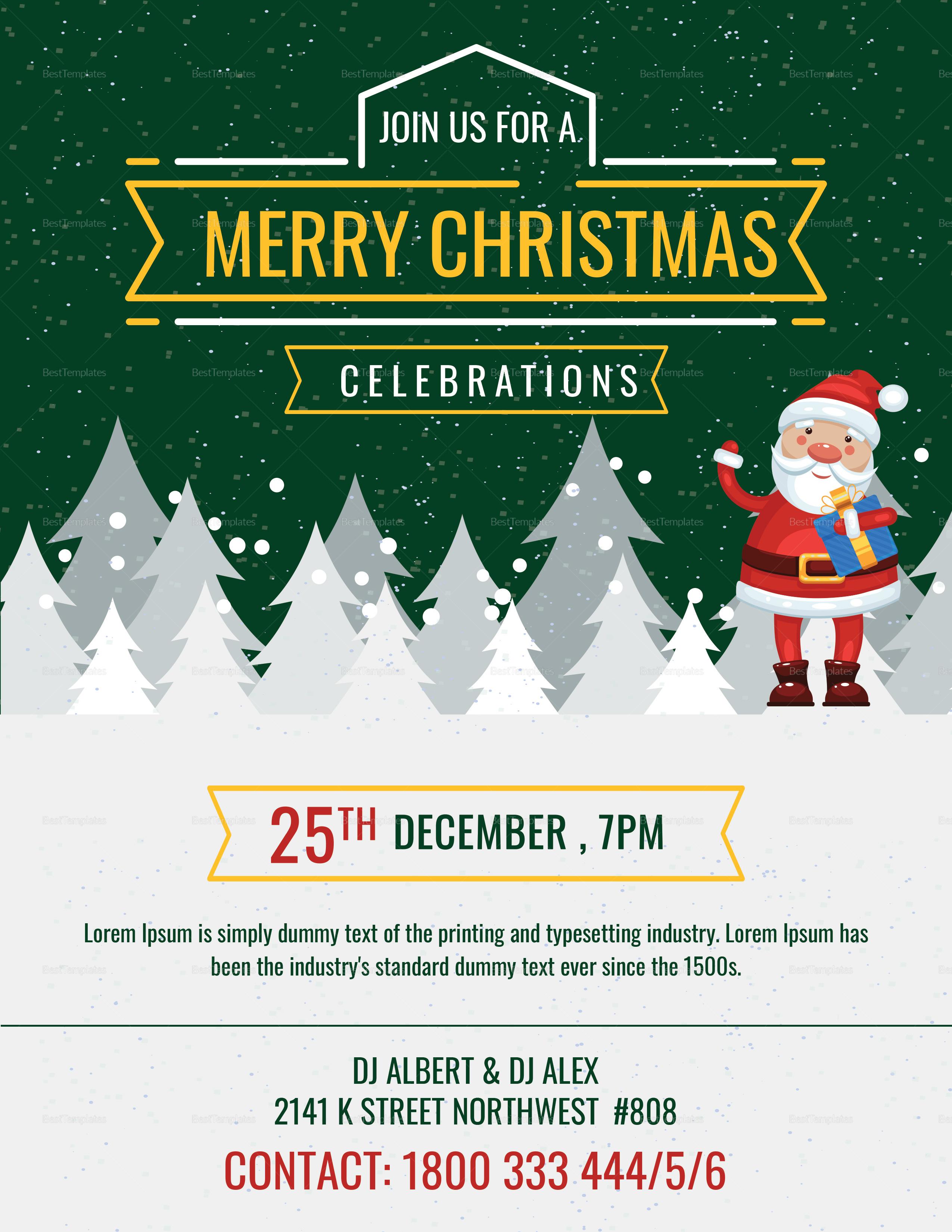 Elegant Christmas Party Flyer