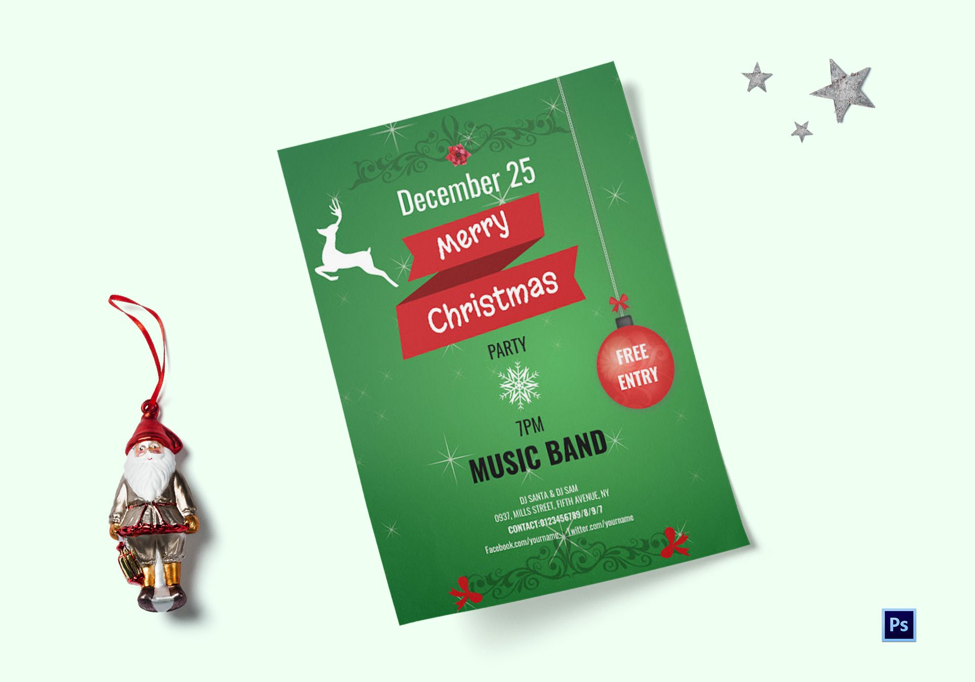 Xmas Musical Party Flyer Template