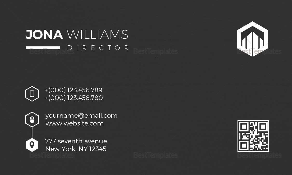 Simple Architect Business Card Design
