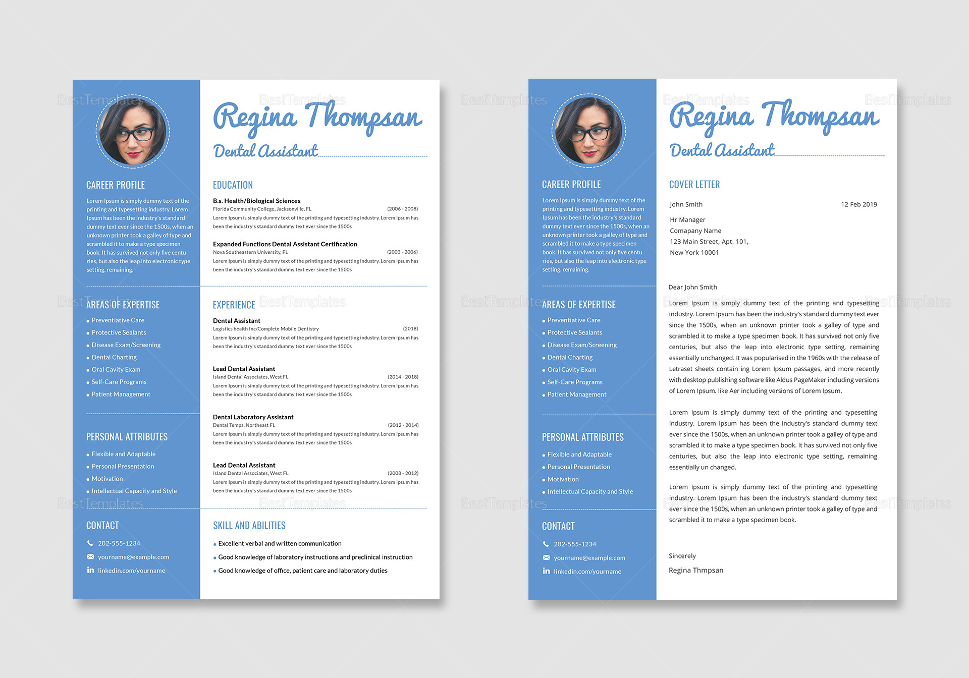 Dental Assistant Resume and Cover Letter