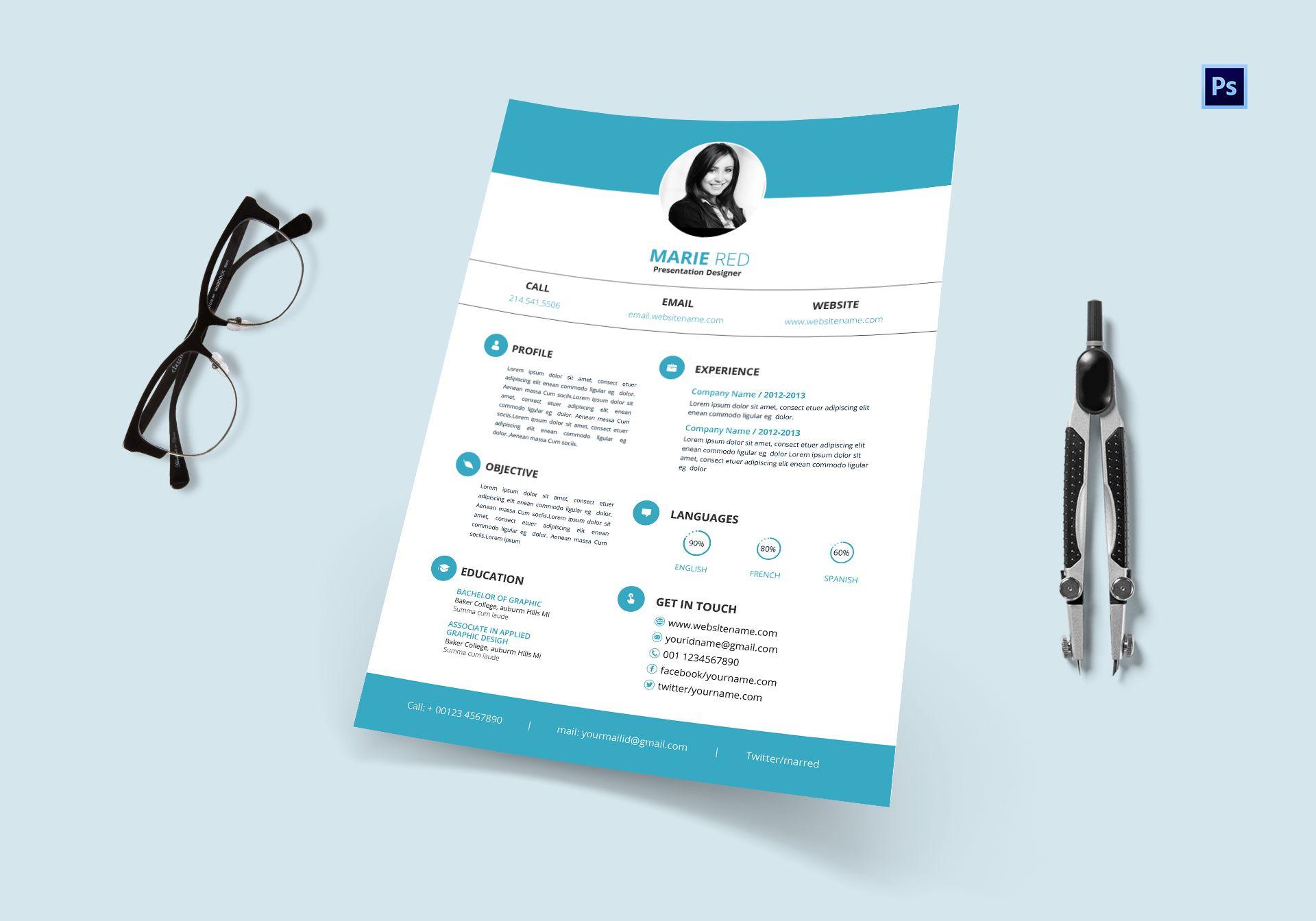 Presentation Designer Resume Template