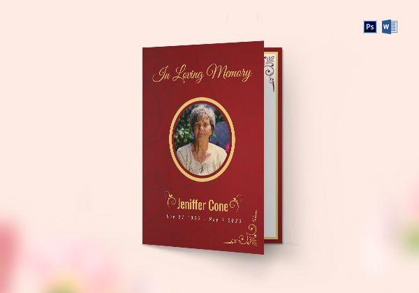 Funeral Program Bi-fold Brochure
