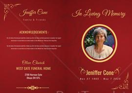 Funeral Program Bi-fold Template