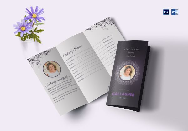 Eulogy Program Tri-fold Brochure
