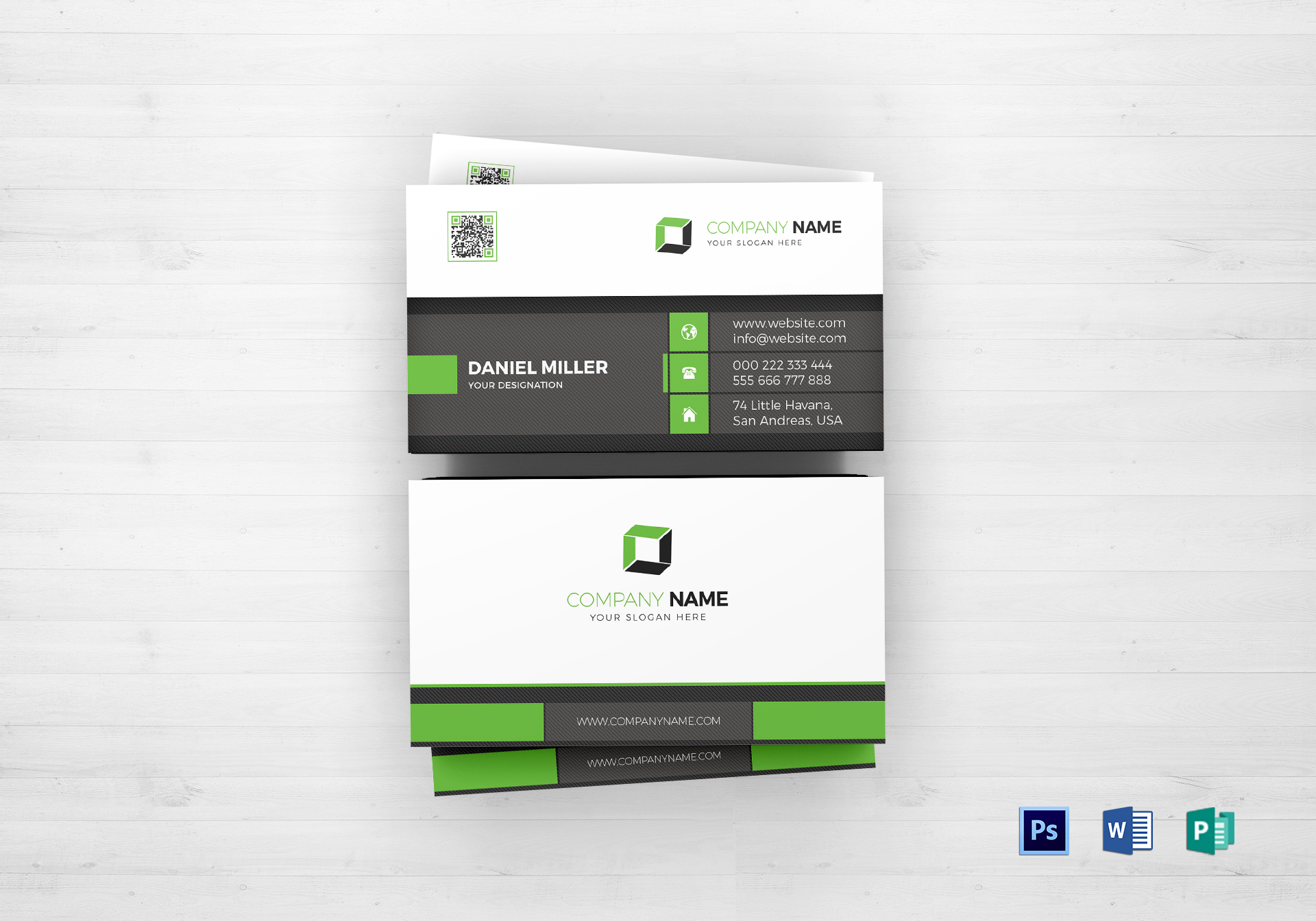 classic business card design template in psd word publisher