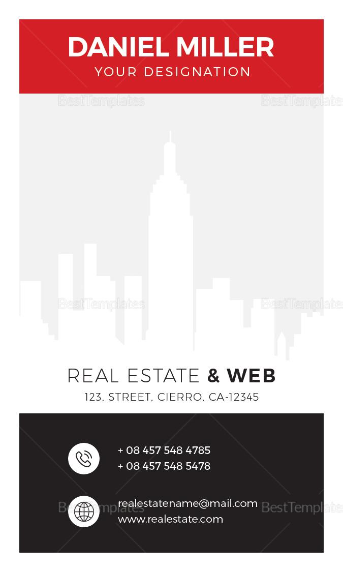 Real Estate Business Card Design Template