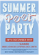 Summer Pool Party Invitation Design Template