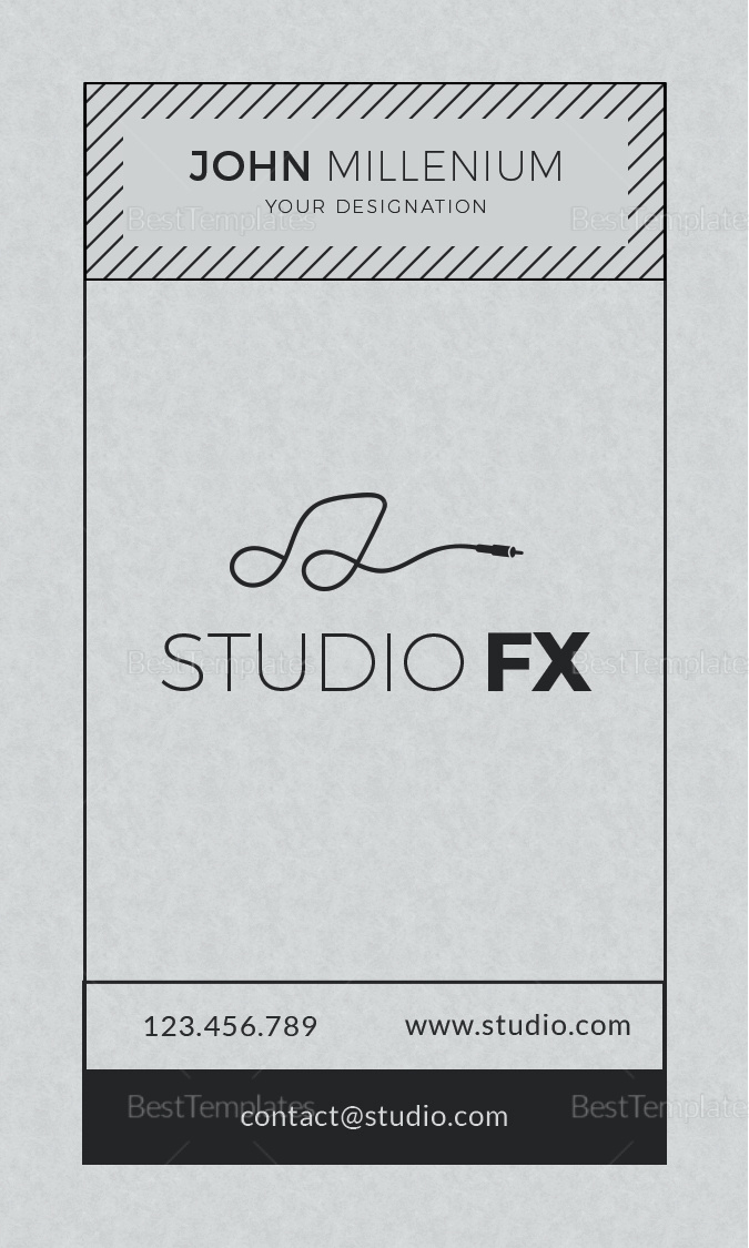 Studio Business Card Design Template