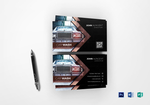 Automotive business card designs templates in word psd publisher car wash business card template accmission Images