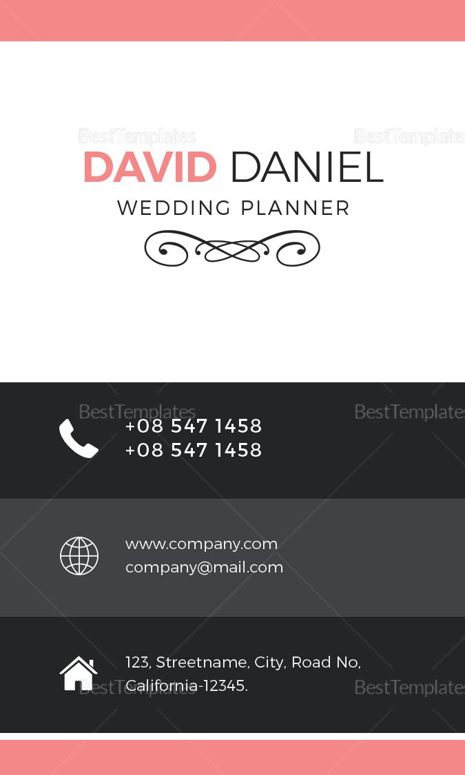 Wedding Business Card Design Template