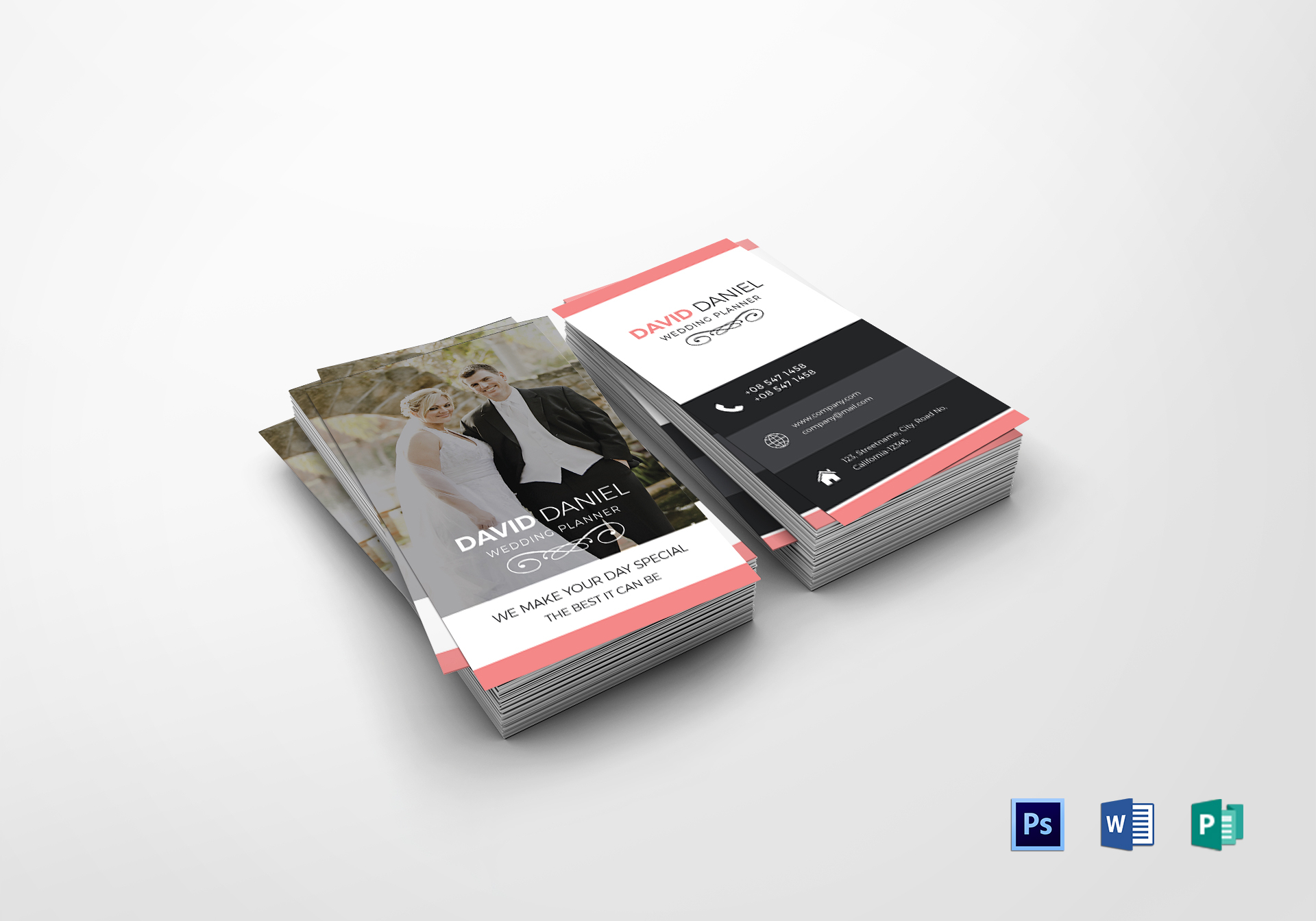 Wedding Business Card Design Template In Psd Word Publisher