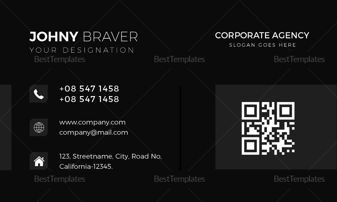 Corporate Agency Business Card Design Template