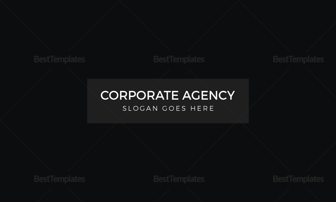 Corporate Agency Business Card Template