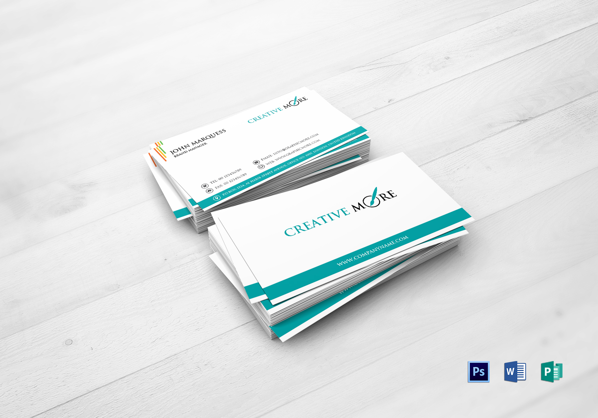 Brand manager business card design template in word psd publisher brand manager business card colourmoves