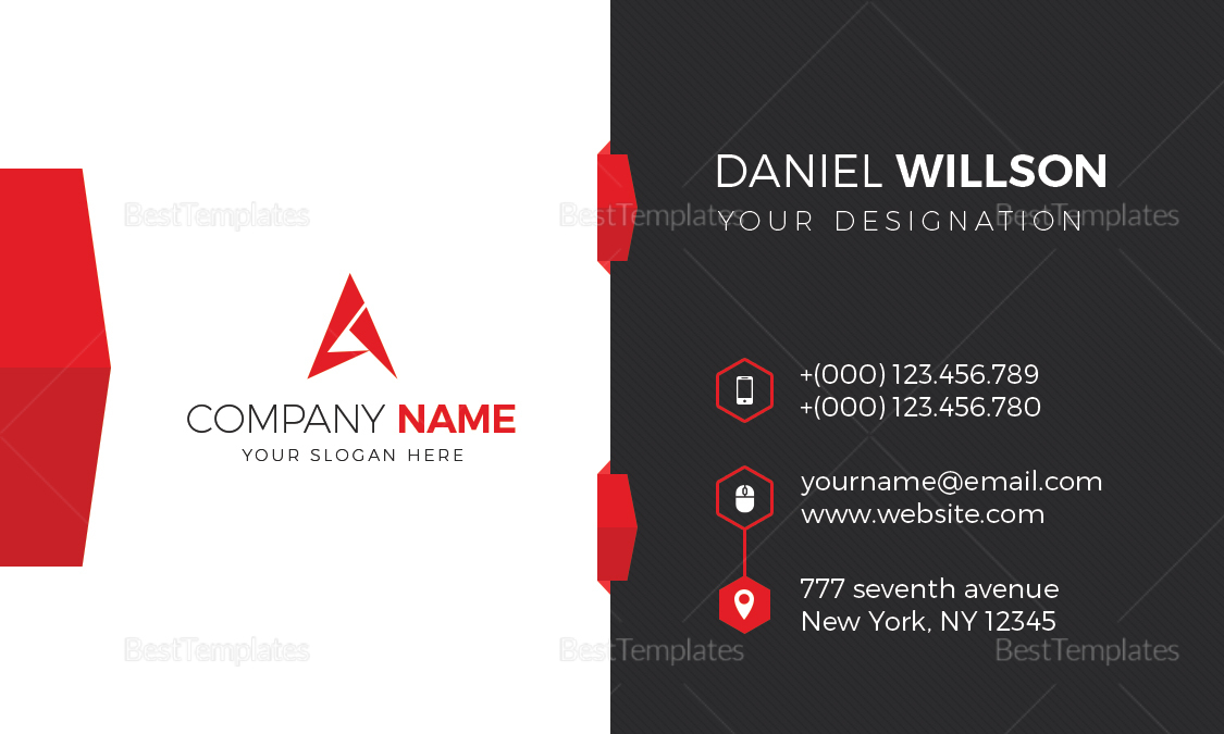 Corporate business card design template in word psd publisher corporate business card corporate business card template corporate business card design cheaphphosting Images
