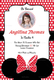Birthday Minnie Mouse Invitation Card Design Template