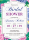 Elegant Bridal Shower Invitation Design Template
