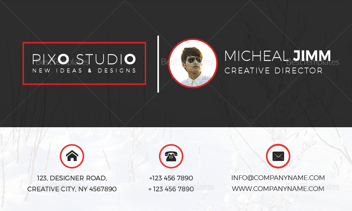 Creative Director Business Card Design Template