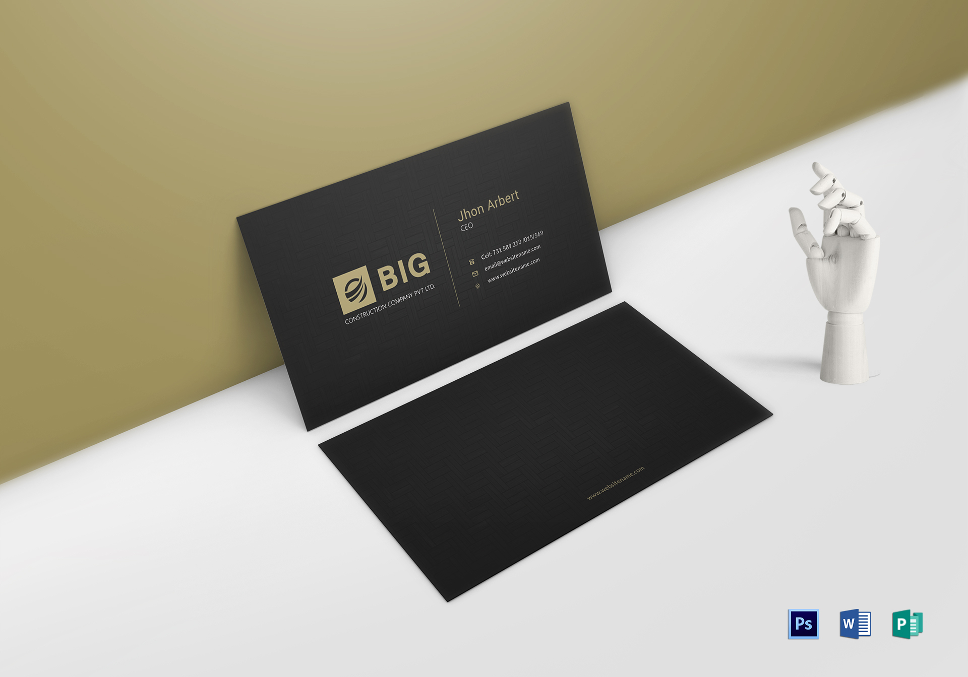 ceo business card design template in word psd publisher
