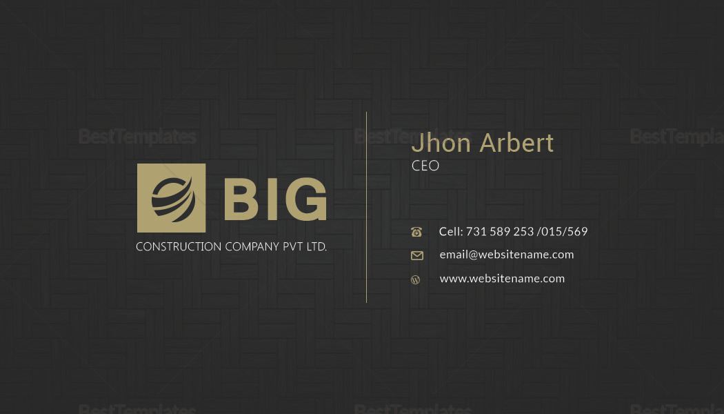 CEO Business Card Design