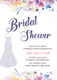 Autumn Bridal Shower Invitation Design Template
