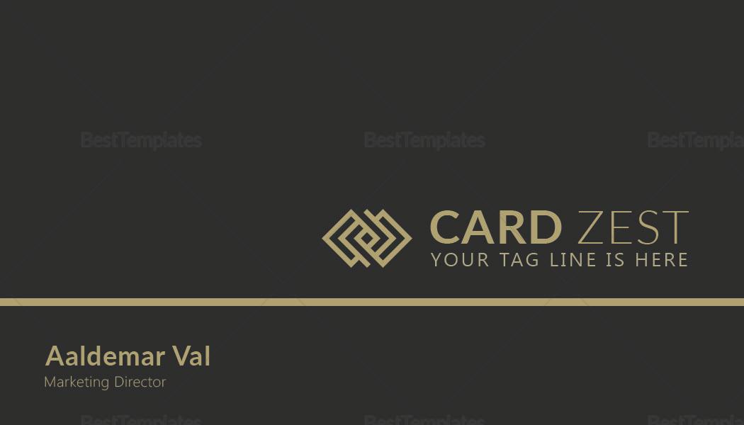Marketing Director Business Card Template