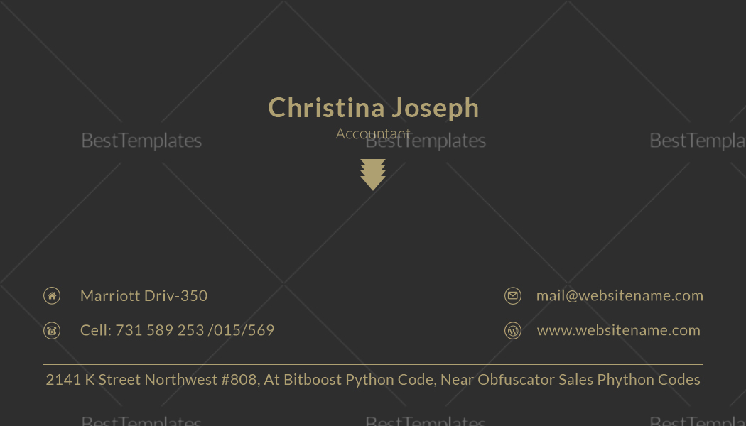 Accountant Business Card Design Template
