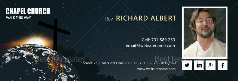 Church Email Signature Template