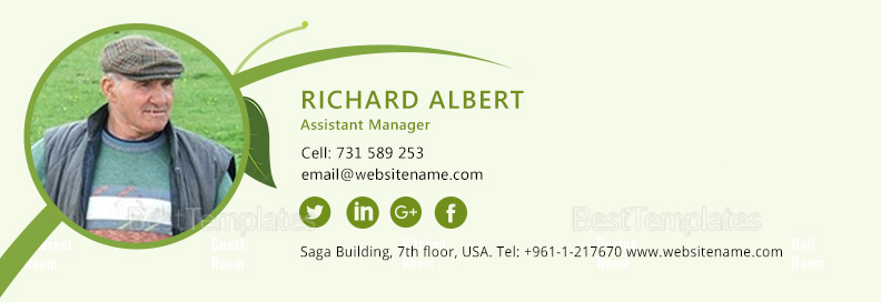 Agriculture Email Signature Template