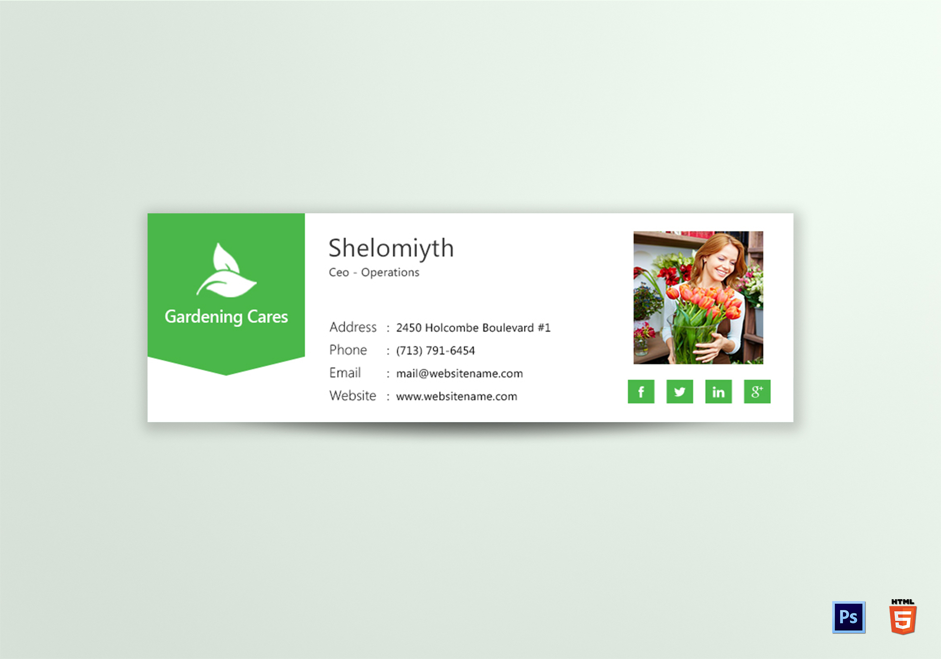 Gardening Email Signature Template