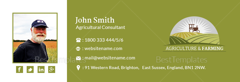 Agriculture And Farming Email Signature Template