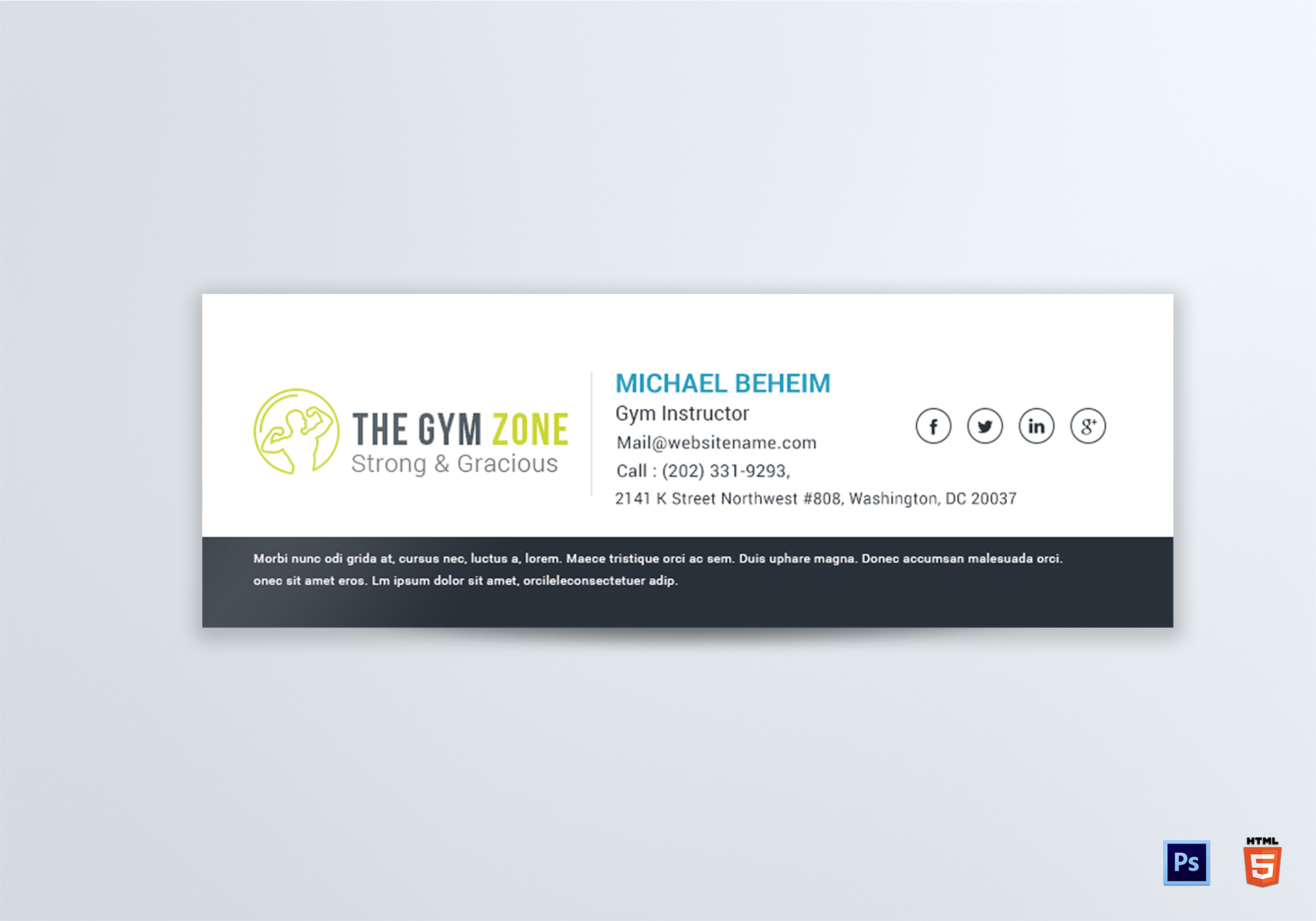 business card email signature gallery business card template