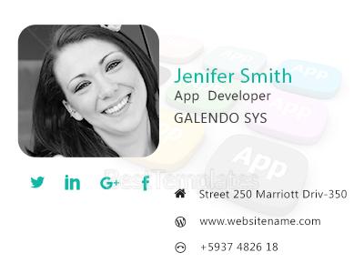 App Developer Email Signature Template