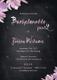 Chalkboard Bachelorette Party Invitation Design Template