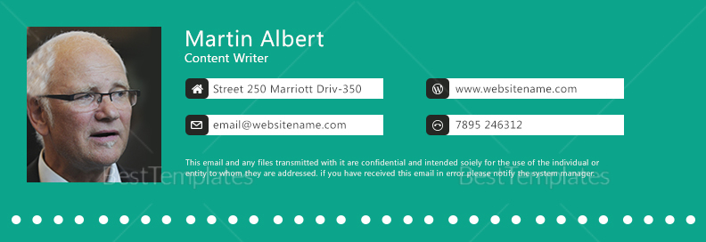 Content Writer Email Signature Template