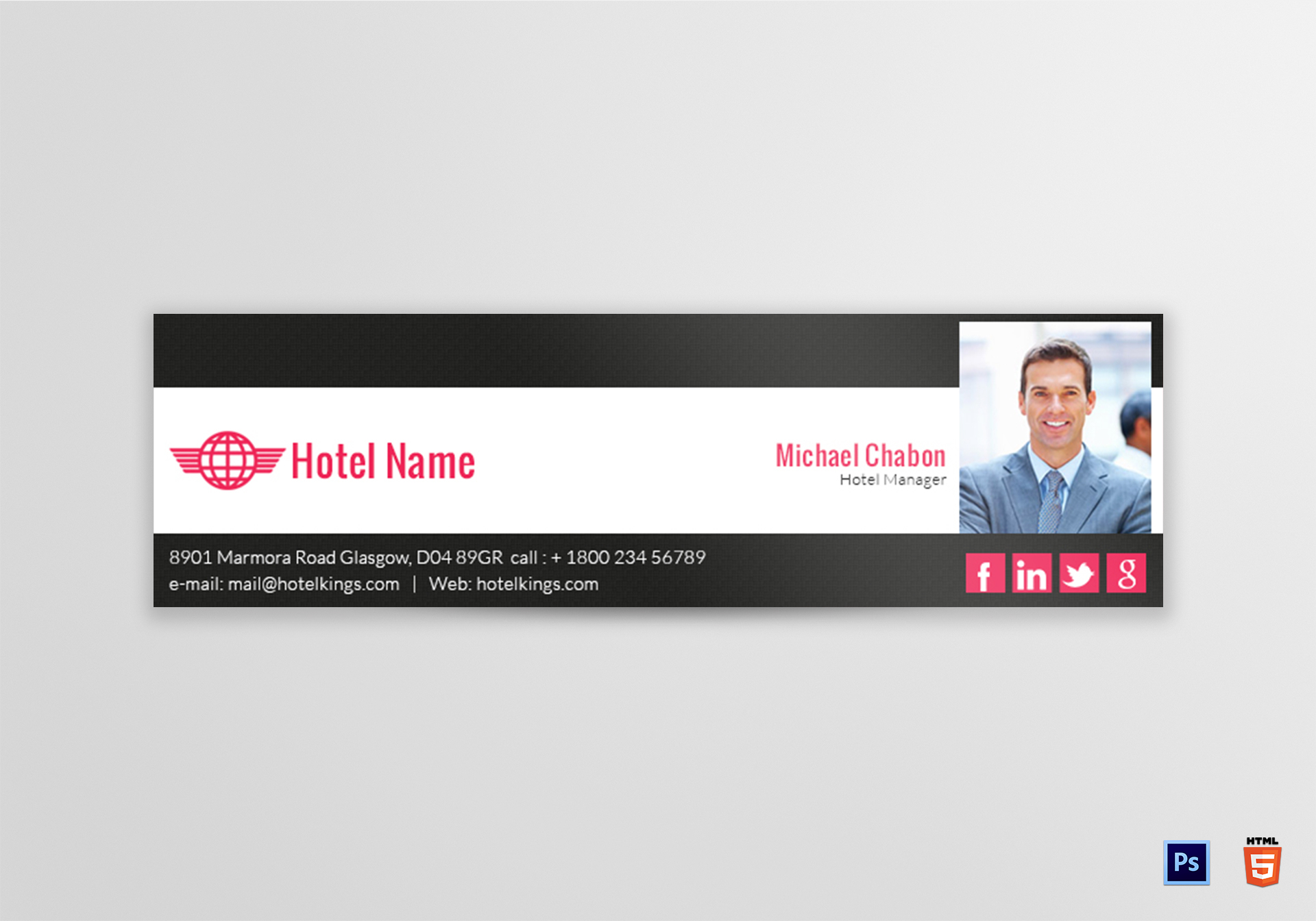 Hotel Email Signature Template